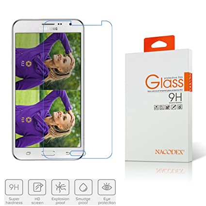 samsung galaxy j3 2015 tempered glass screen protectors nacodex 9h hardness amazoncom tempered glass