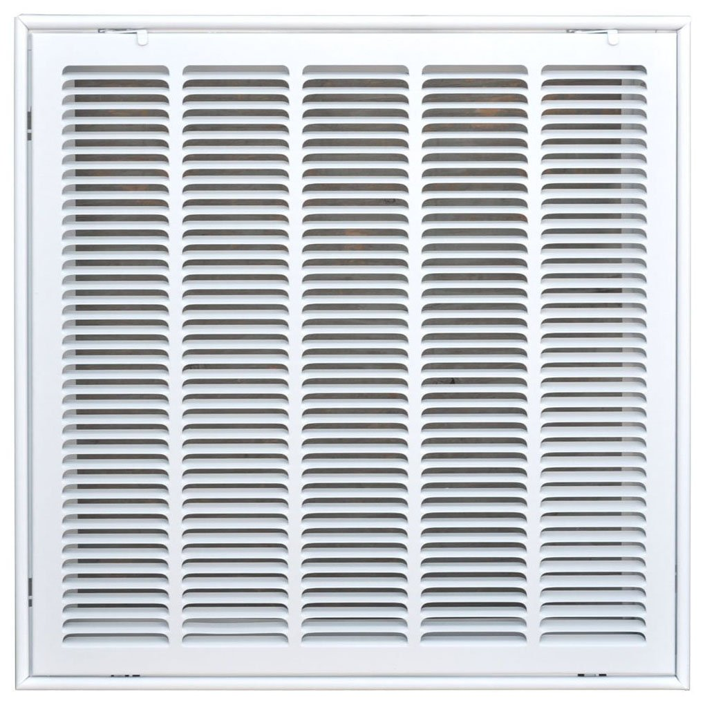 Speedi-Grille SG-2020 FG 20-Inch by 20-Inch White Return Air Vent Filter Grille with Fixed Blades by Speedi-Grille