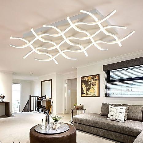 Lonfenner Postmodern Gefuhrtes Rechteckiges Minimalistisches Wohnzimmer Deckenlampe Atmosphare Restaurant Beleuchtet Die Kreativen Kunste In Der