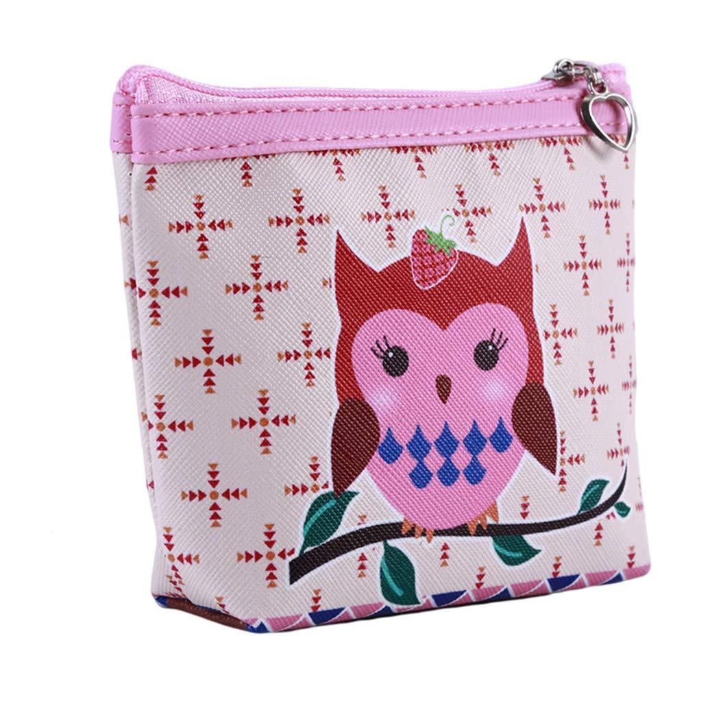 LZIYAN Cute Coin Purse Cartoon Owl Pattern Coin Purse Clutch Bag Portable Small Wallet With Zipper Storage Bag Creative Gift For Women,3# by LZIYAN (Image #2)
