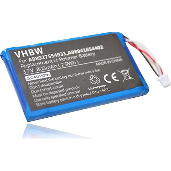 Batería vhbw 800mAh (3.7V) para eBook Reader Sony Portable Reader ...