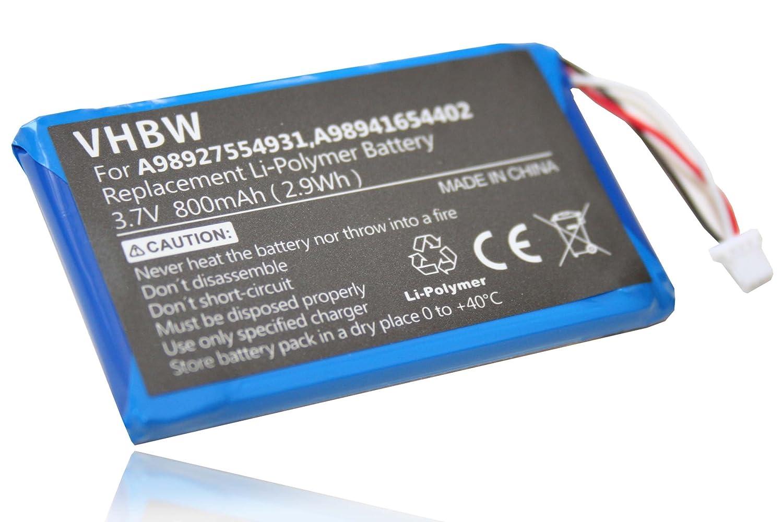 Batería vhbw 800mAh (3.7V) para eBook Reader Sony Portable Reader PRS-600, PRS-600/BC, PRS-600/RC por A98927554931, A98941654402.