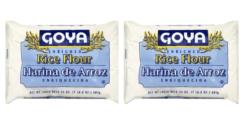 Goya Rice Flour 24 Oz   Harina de Arroz 681g (Pack of 02)