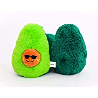 Hopsty Avocado Plush Stuffed Cute Squishy Pillow - Best Plushie Gift for Babys, Kids, Teenagers, Adults. Soft - Huggable Pad - 8.27 inch