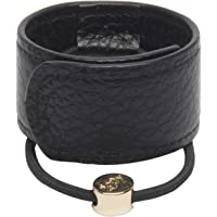 1907 Leather Hair Cuff, Black, 1 Count