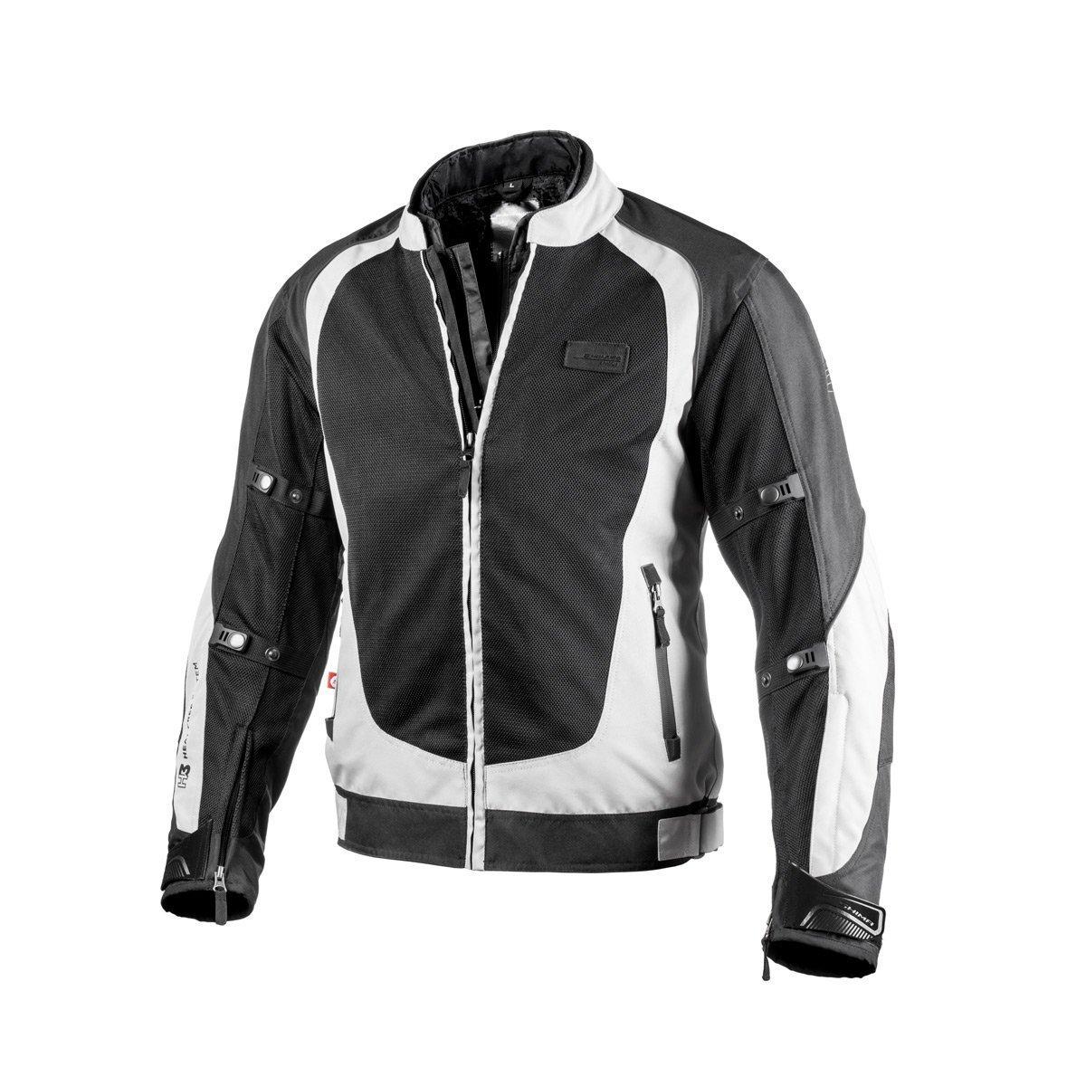 Shima X-MESH GREY, Sport Protective Summer Comfort Stylish Reflective Motorbike Jacket (S-XXL), Grey, Size:XXL