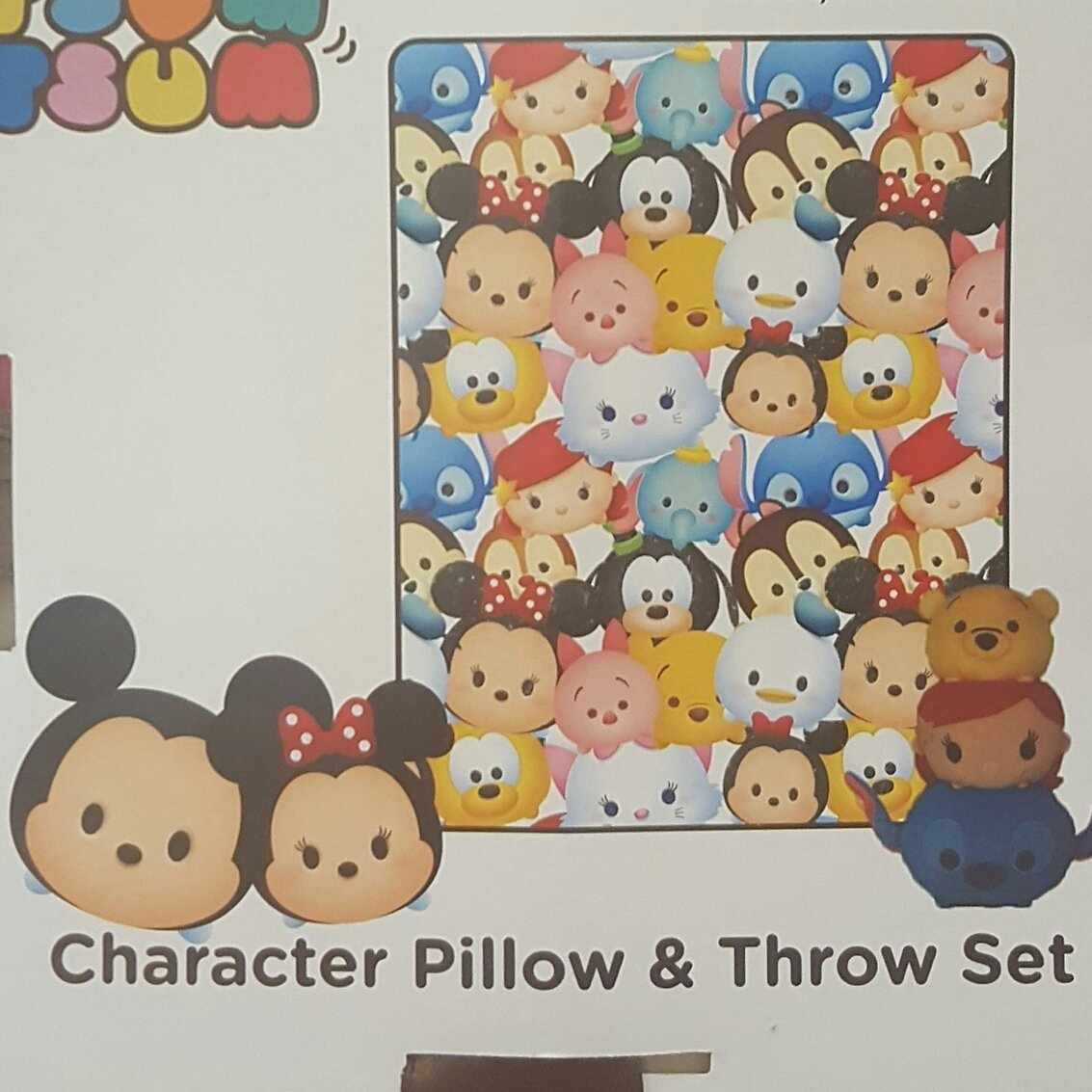 Disney Character Pillow Throw Blanket Image 2