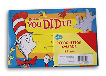 amazon com dr seuss cat in the hat recognition awards