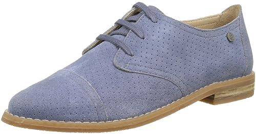 Aiden, Zapatos de Cordones Derby para Mujer, Azul (Bleu 5), 37 EU Hush Puppies