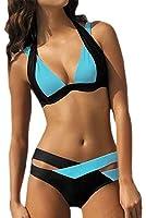 YaoDgFa Sexy Strand Damen Bikini Set Push Up Bademode Badeanzüge Bikinis für Frauen Mädchen Bandeau Zweiteilig Neckholder Bandage