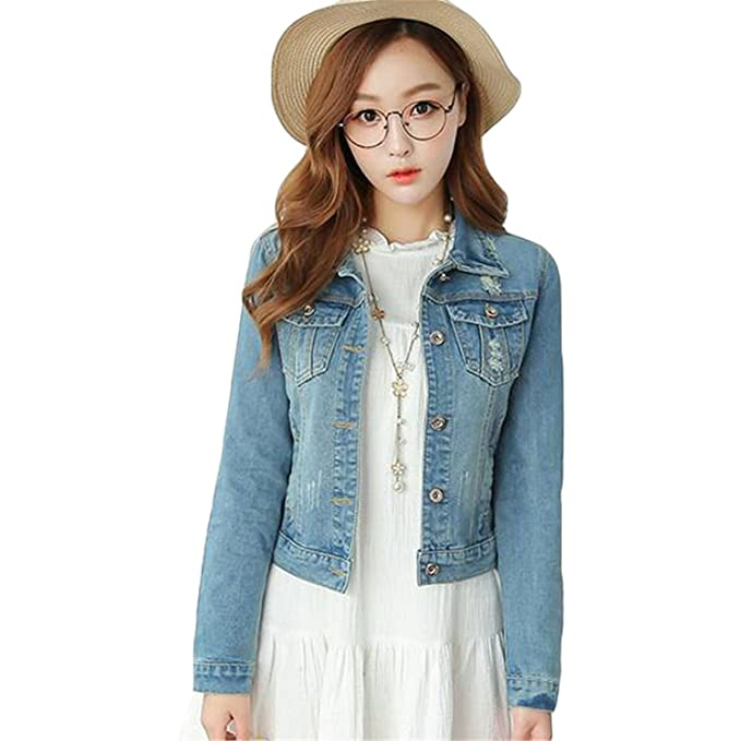 fbc5c5a05522d Plus Size 5XL Casual Basic Denim Jacket Vintage Jacket Women Spring New  Slim Jeans Jackets Baseball Ladies Coat JSK069 at Amazon Women s Coats Shop