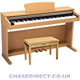 Chase CDP-245LC Digital Upright Piano In Light Cherry / Beech Colour