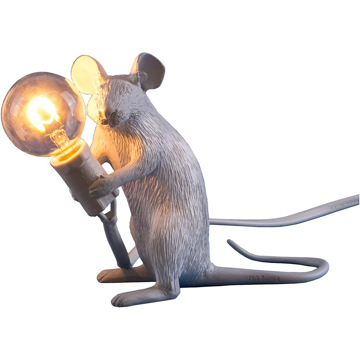 French monkey lamp - Seletti Mouse Lamp Sitting White