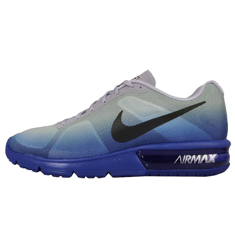 Blå   svart svart svart   grå   vit (Racer blå   svart - wlf grå - vit) Nike herrar Air Max Sequent springaning skor  rabatt lågt pris