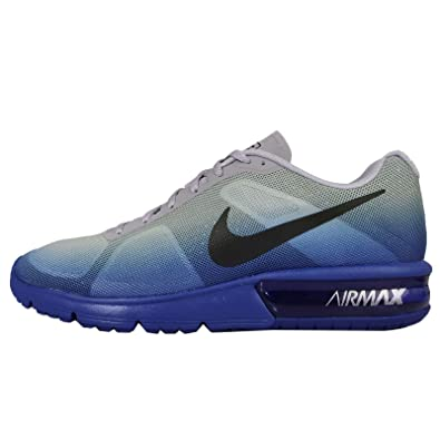 amazon com nike mens air max sequent racer blue black wolf grey