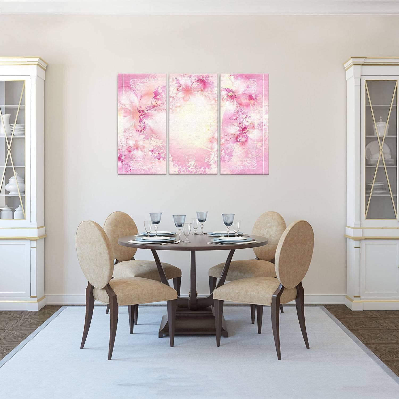 LANA KK Luxus Ausführung – Leinwandbild Barock Peaches Peaches Peaches  Abstraktes Design auf 4 cm Echtholz-Keilrahmen, Orange, 120 x 80 x 4 cm B074QQWZ48 | Sehr gute Farbe  7edcd6