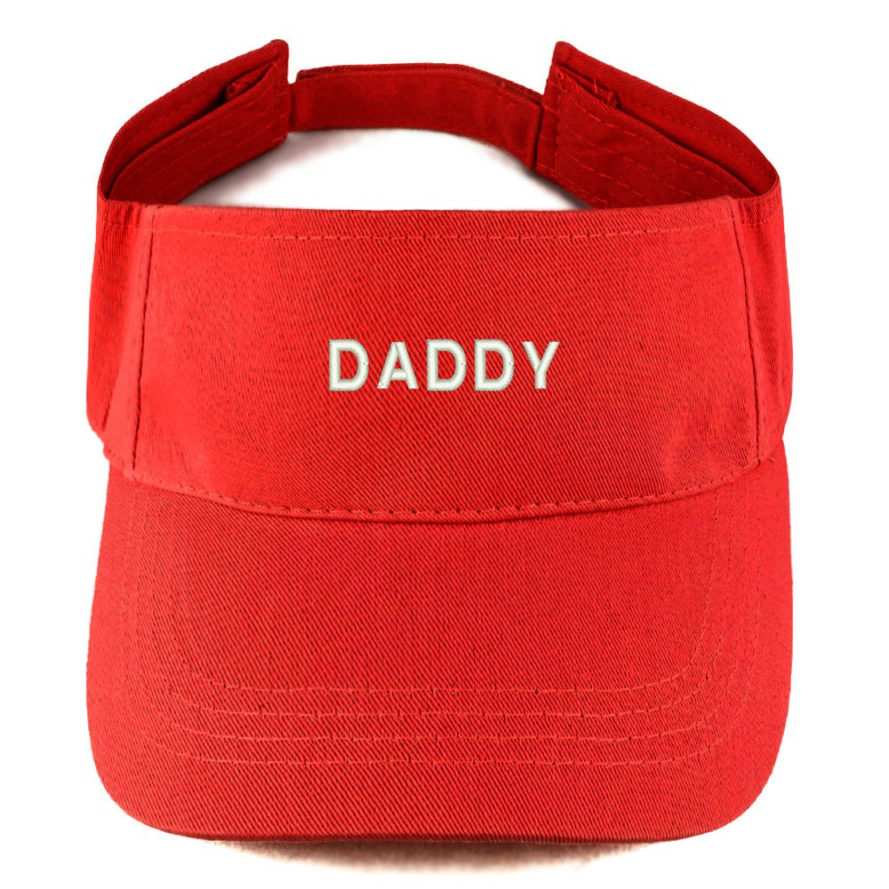 Trendy Apparel Shop Daddy Embroidered 100% Cotton Adjustable Visor One Size TXT1241-CB-H1421-BLK