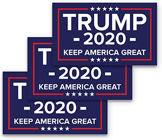 Choose Size TRUMP 2020 Keep American Great Bumper Stickers Decals 12 pack
