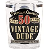 Laid Back CS1411 50th Birthday Vintage Dude Shot Glass, 2-Ounce