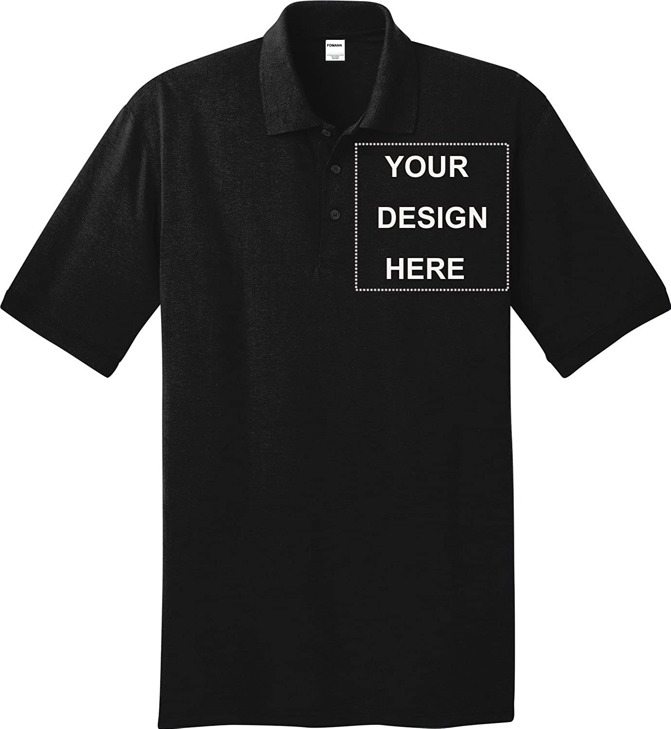 Personalized Mens Polo Shirt With Photo Logo Print 10 Pack Custom