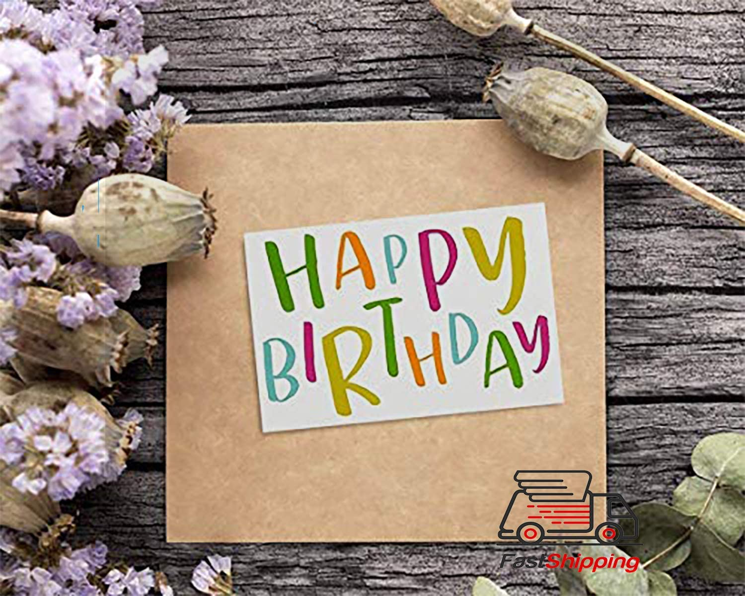 144 Happy Birthday Cards Assortment with Envelopes Bulk Box Set Variety Pack Birthday Cards In A Box 18 Colorful Designs for Men Women Kids Parents Employees 4 x 6