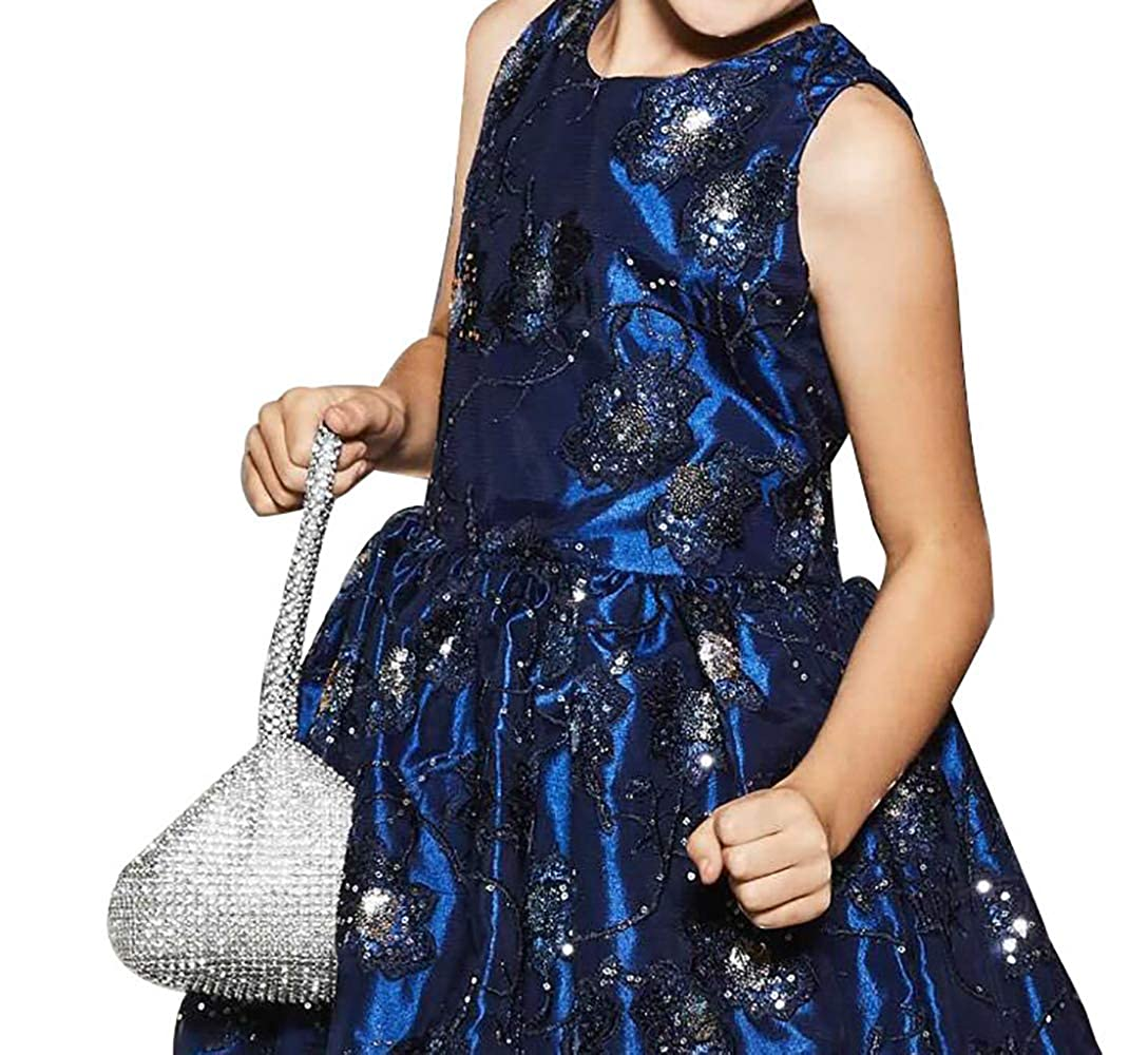 4db2cf17 Amazon.com: Chasing Fireflies Girls Dress Sparkly Flowers Tank Dress with  Sequin, Sleeveless Party Dress for Occasion Age 4-16: Clothing