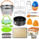 Upgraded 28pc Accessories for Instant Pot Compatible with Pressure Cooker 5,6,8 Qt, Includes Steamer Basket, Springform Pan,