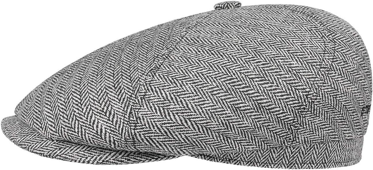 Moderne Schirmm/ütze mit Baumwollfutter f/ür M/änner Hoher UV-Schutz Stetson Milner Seiden Flatcap Herren Sommer//Winter Elegante Schieberm/ütze aus 100/% Seide Made in EU