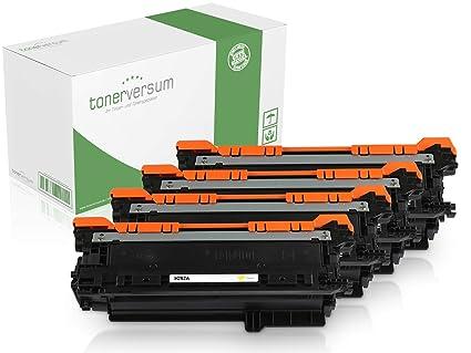 Kit de 4 Cartuchos de tóner compatibles con HP 504A 504X para ...