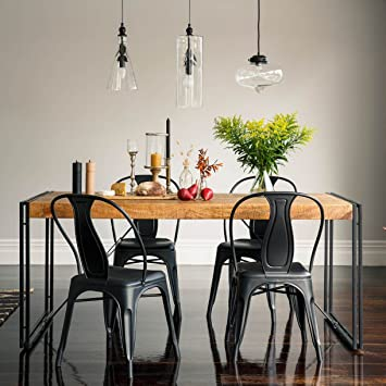 Karakter Mobel Esstisch Tisch 180x90 Massiv Holz Mango Metall Design