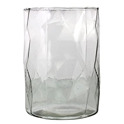 Amazon My Swanky Home Large Faceted Glass Candle Holder