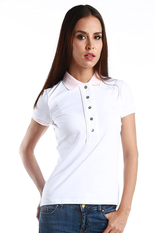 Fred Perry Womans Polo Oxford cuello 31162299 0039 blanco/rosa ...