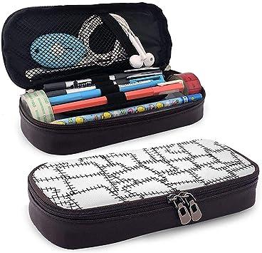 Patchwork Adorno Costura Parches de tela Estuche de cuero lindo para lápices - Bolso para lápiz Organizador de papelería Bolsa de maquillaje, soporte perfecto: Amazon.es: Oficina y papelería