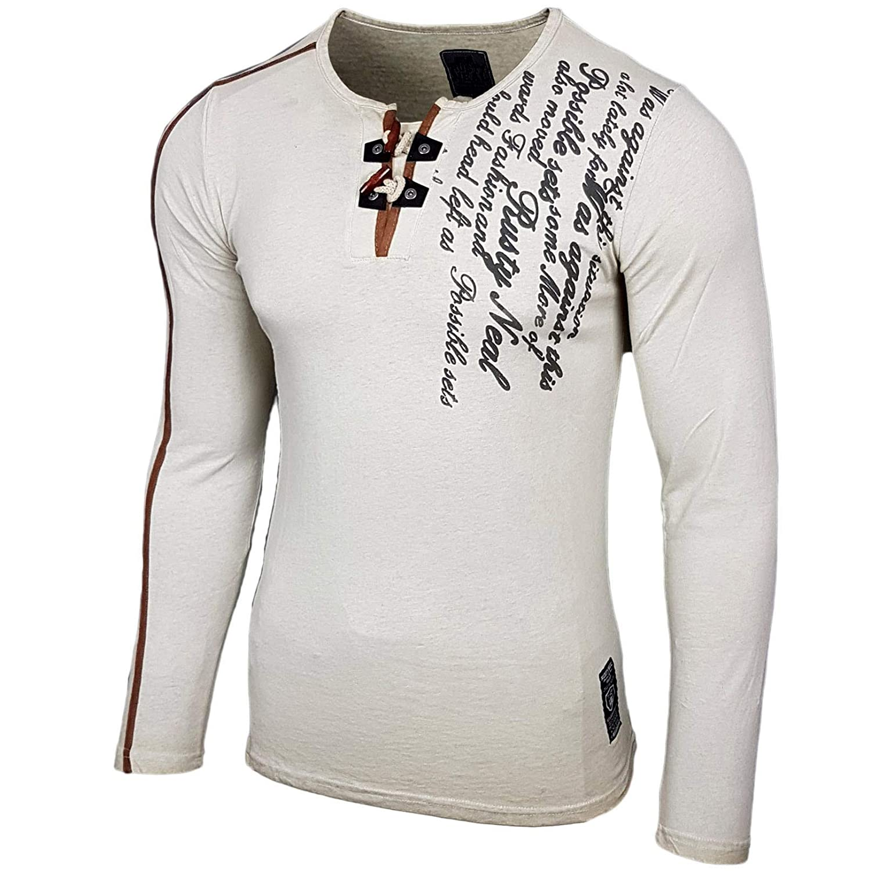 Rusty Neal B4088 - Figurbetont Manga Larga Camisa Camiseta de Slim RN de 10115: Amazon.es: Ropa y accesorios