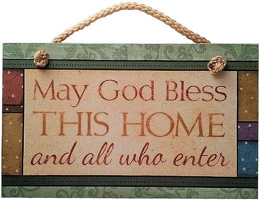 Amazon.com: Que Dios bendiga a esta casa Sign Inspirational ...