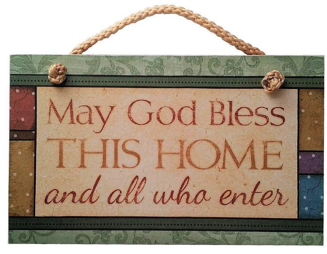 Que Dios bendiga esta casa cartel inspirador con texto en ...