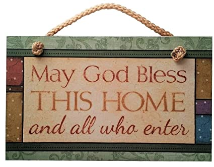 Best Amazon.com: May God Bless This Home Sign Inspirational Plaque  FR39