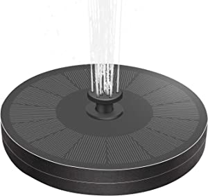 Cocofit 2021 3W Solar Fountain Pump with Battery Backup and 8 Nozzles, Upgraded Fix Floating Solar Water Fountain for Bird Bath Garden Backyard Pond Pool, Outdoor Solar Powered Hummingbird Fountain