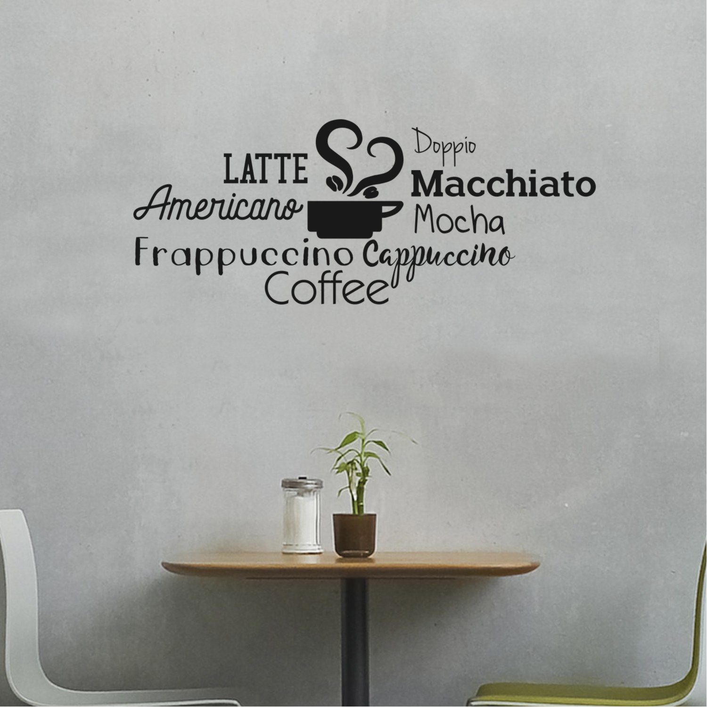 Amazon com coffee mocha latte cappuccino words sign wall art decal