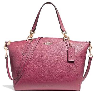 d858887cd2c8 ... closeout coach small kelsey pebble leather satchel handbag rouge 9143e  c8ea8