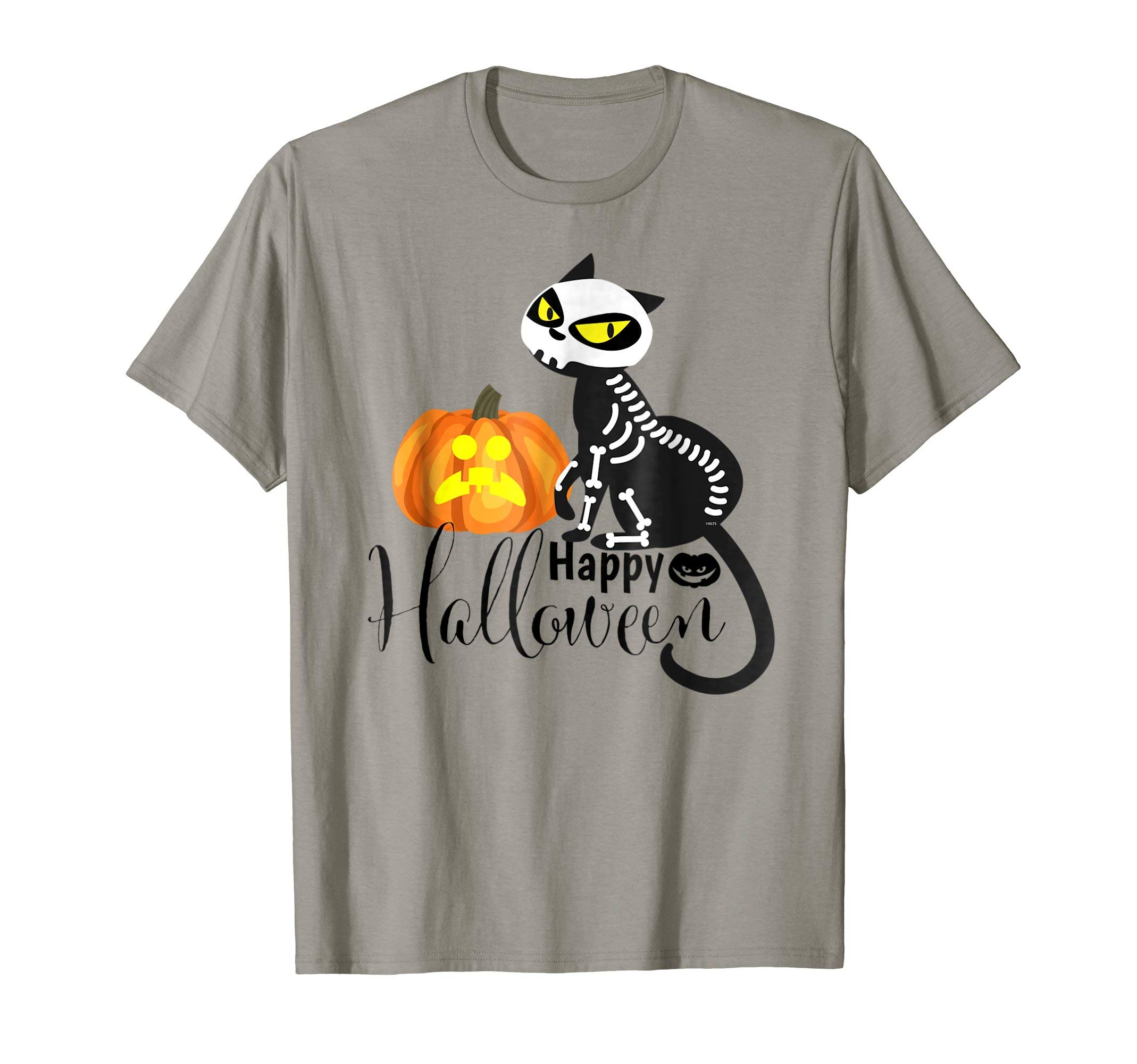 Happy-Halloween-Skeleton-Cat-T-Shirt-Tee-Gifts-Shirt