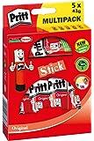 Pritt Klebestift 5 x 43 g im Bonus-Pack, lösemittelfrei