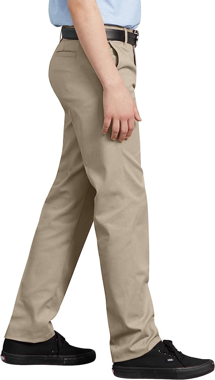 Dickies Khaki Big Boys Flex Waist Slim Stretch Pant,