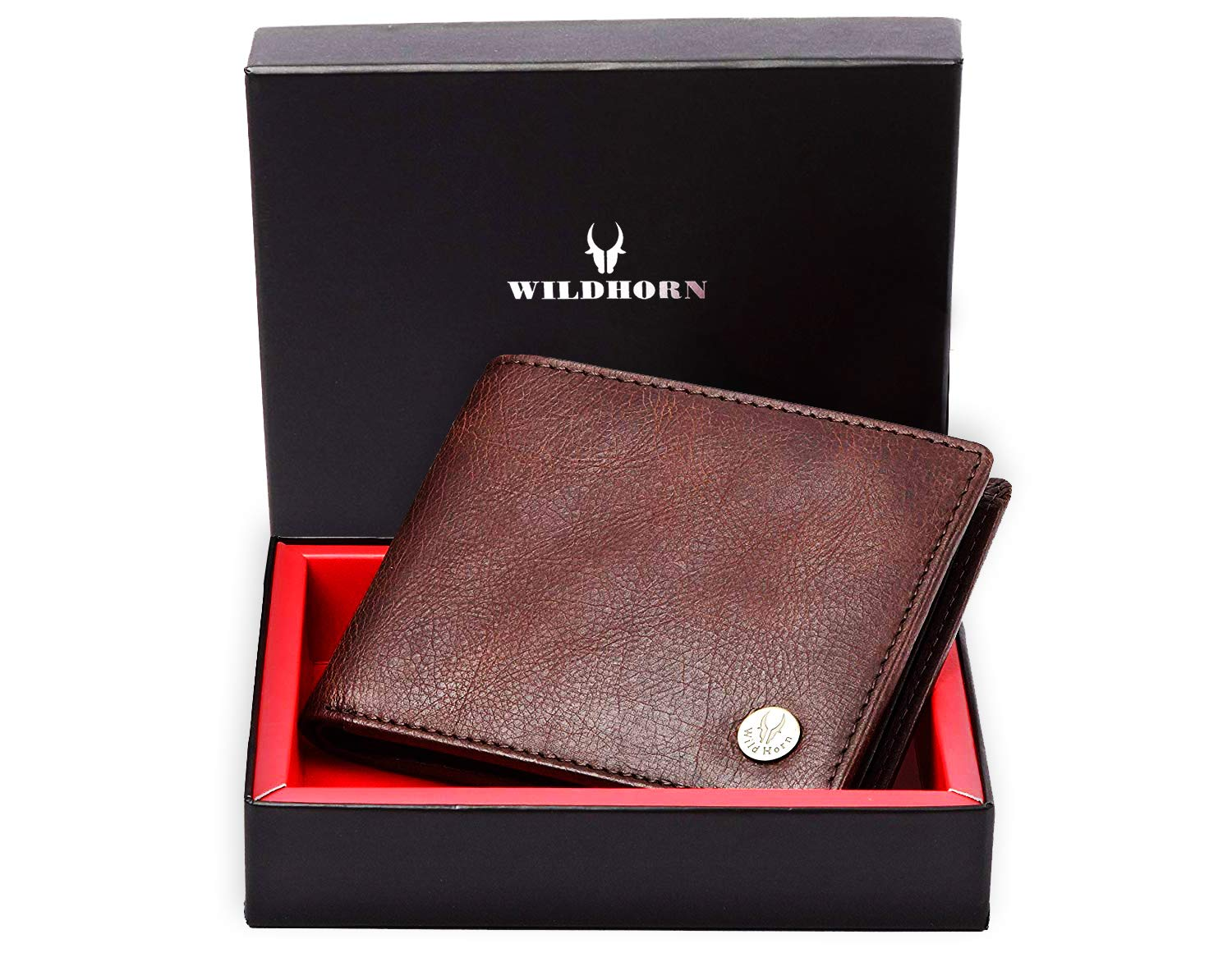 WildHorn Brown Men's Wallet (WH2052 Crackle)