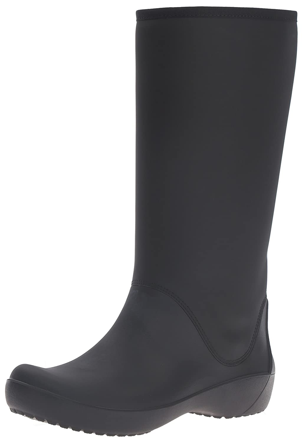 Crocs Women's Rain Floe Tall Boot B01A6LK1TM 7 M US|Black