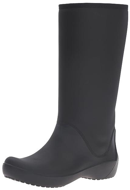 2bbed994d64d64 crocs Women s Rain Floe Tall Boot  Amazon.ca  Shoes   Handbags