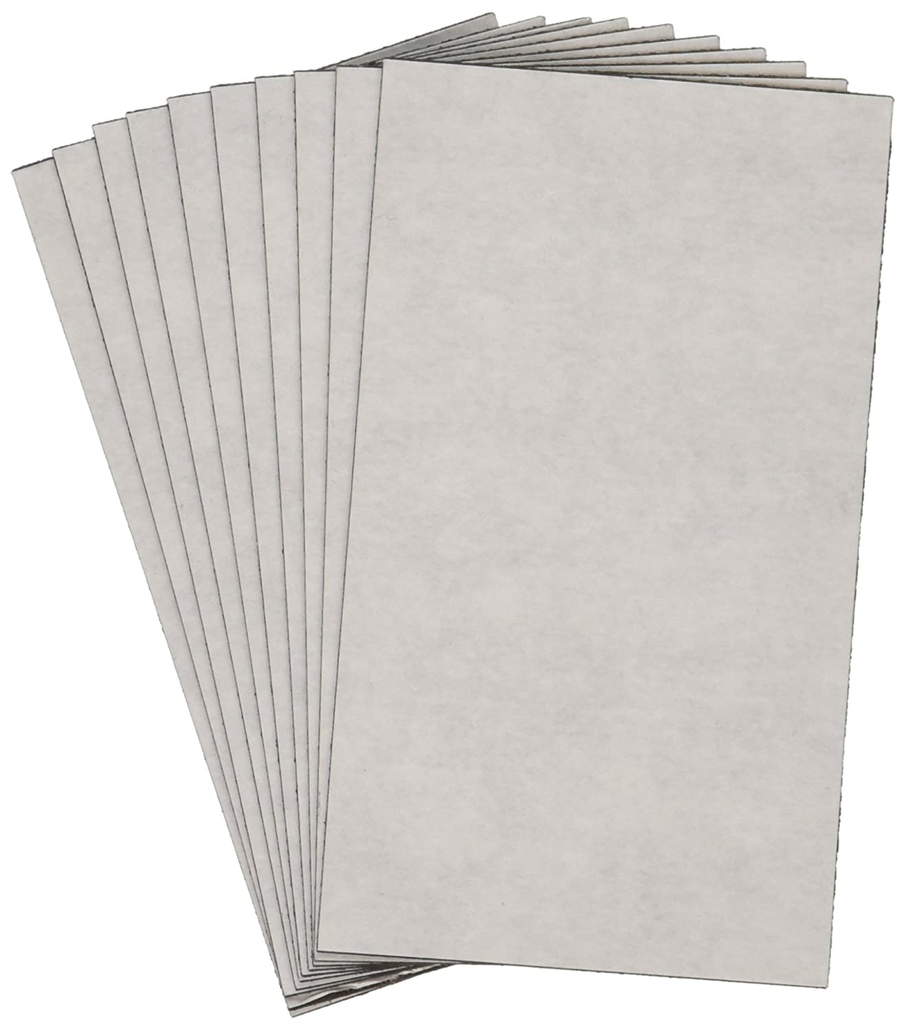 10-Pack 2 by 3.5-Inch ProMag 20001PGY Adhesive Business Card Magnet