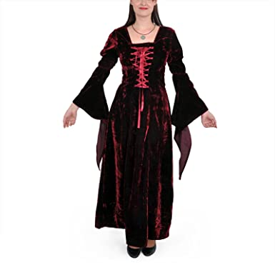 Mittelalter kleid samt rot
