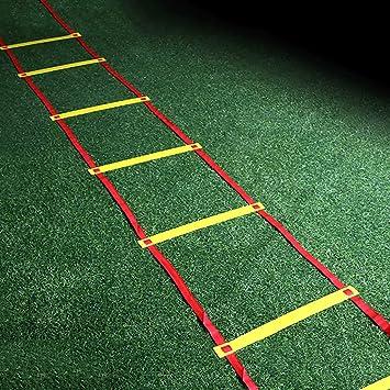 Xin Speed Agility Ladder 3M6 Escalera de Entrenamiento de peldaños for fútbol Speed Basketball Fútbol Fitness Pies de Entrenamiento con Bolsa de Transporte: Amazon.es: Deportes y aire libre
