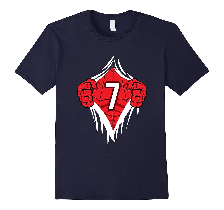 Superhero Birthday Shirt 7 Year Old
